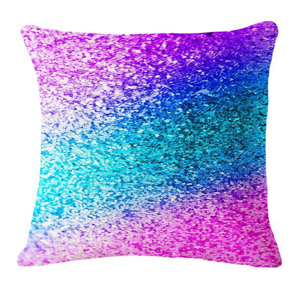 Stylish Gradient Color Paillette Pattern Square Shape Flax Pillowcase (Without Pillow Inner)