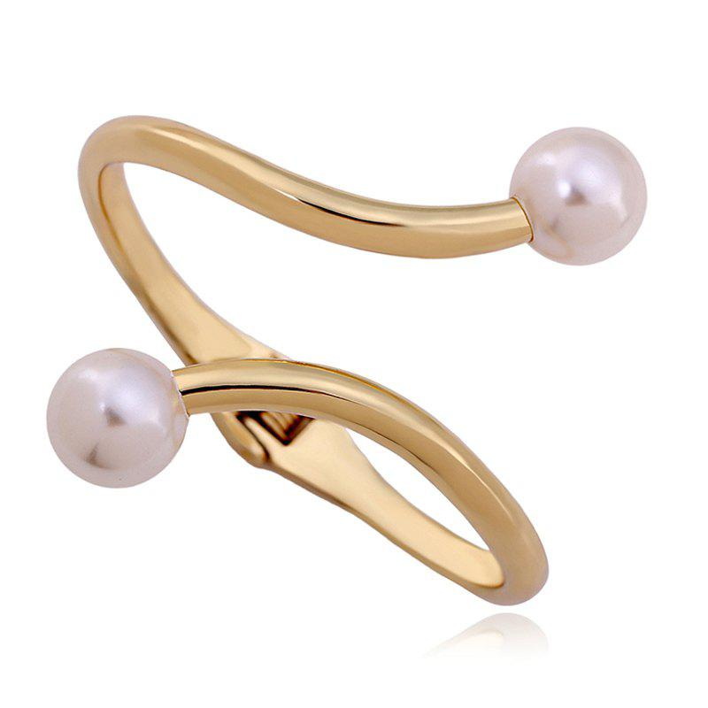 Artificial Pearl Cuff Bracelet - GOLDEN