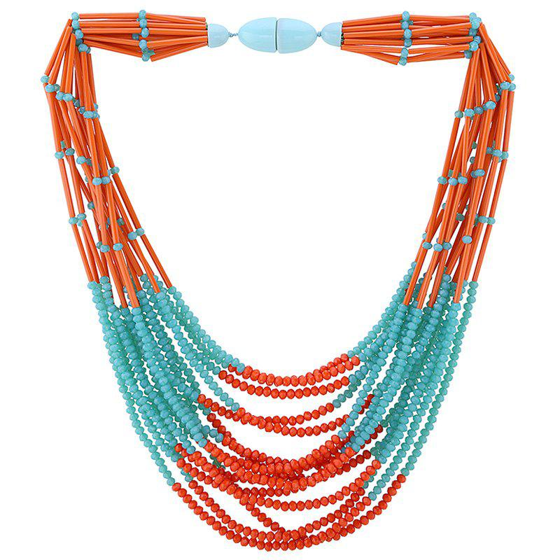 Charming Layered Embellished Beads Necklace For Women