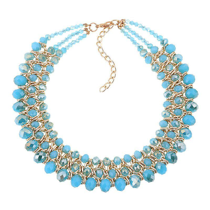 Multilayered Beads Necklace - BLUE