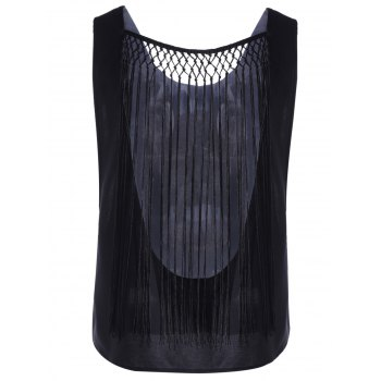 Chic Tassel Hollow Out Top For Women - S S
