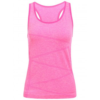 Stylish Women\'s U Neck Space Dyed Racerback Top