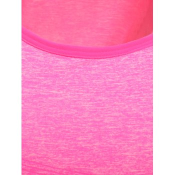 Stylish Women's U Neck Space Dyed Racerback Top - ROSE MADDER S