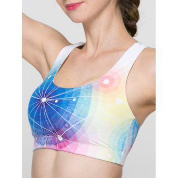 Trendy Colorful Hollow Out Criss Sport Bra For Women - S S
