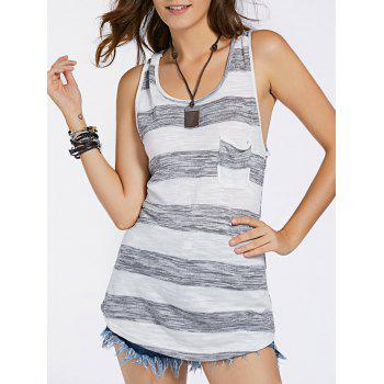 Striped Front Pocket Women's Tank Top