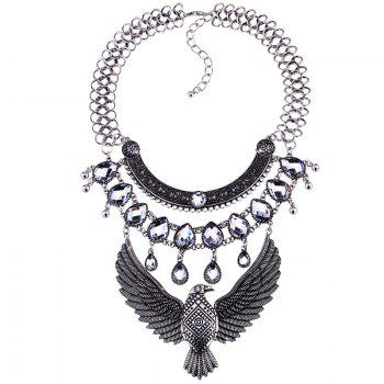 Faux Crystal Eagle Water Drop Necklace Jewelry