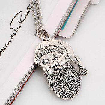 Father Christmas Pendant Necklace - SILVER