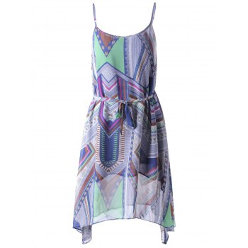 Bohemian Belt Spaghetti Straps Dress For Women