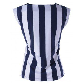 Contrast Striped Tank Top - STRIPE XL