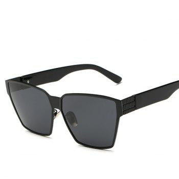 Fashion Personality Big Frame Outdoor Unisex Black Sunglasses