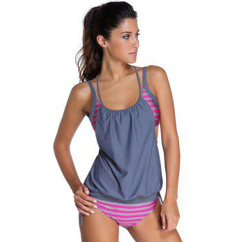 Halter Neck Hollow Out Tankini Set