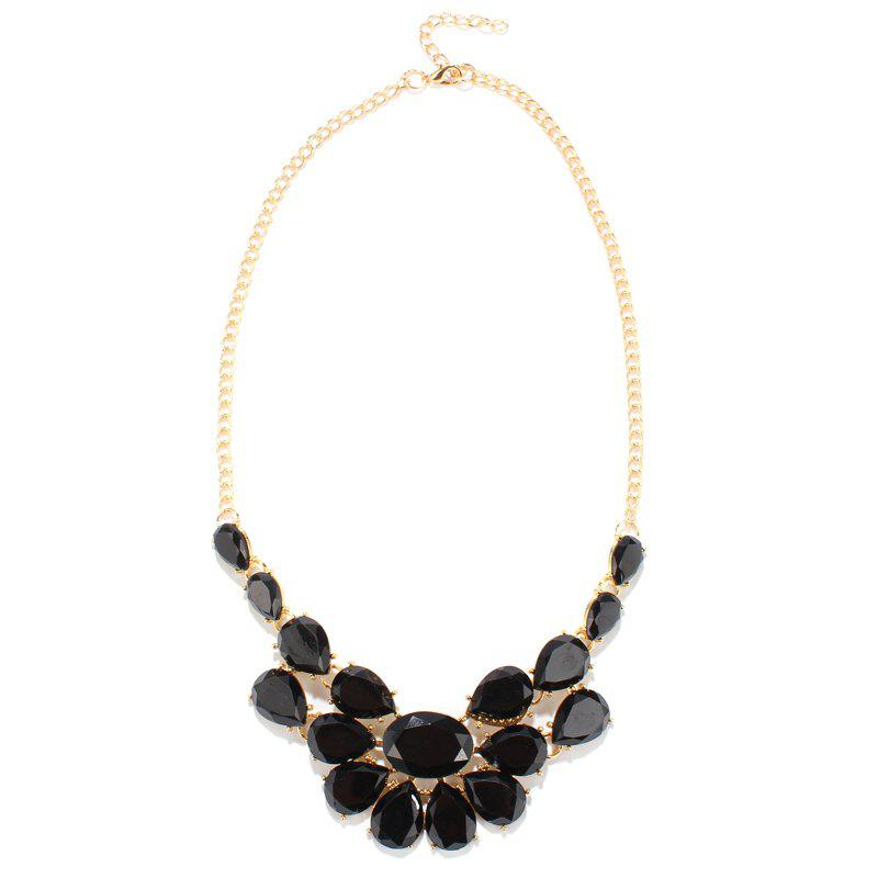 Gorgeous Artificial Gem Water Drop Shape Fake Collar Necklace For Women
