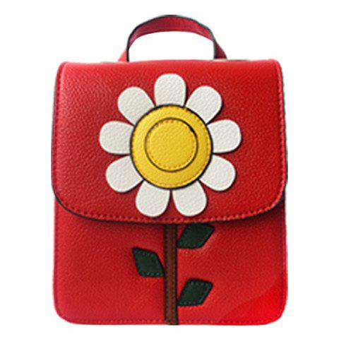 Sweet Flower and Cover Design Women's Satchel - RED