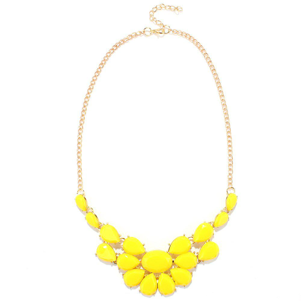 Water Drop Pendant Necklace - YELLOW