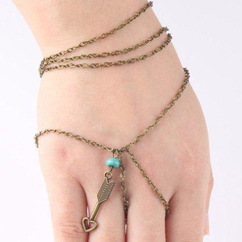 Multilayered Arrow of Love Bracelet love heart arrow angel bracelet
