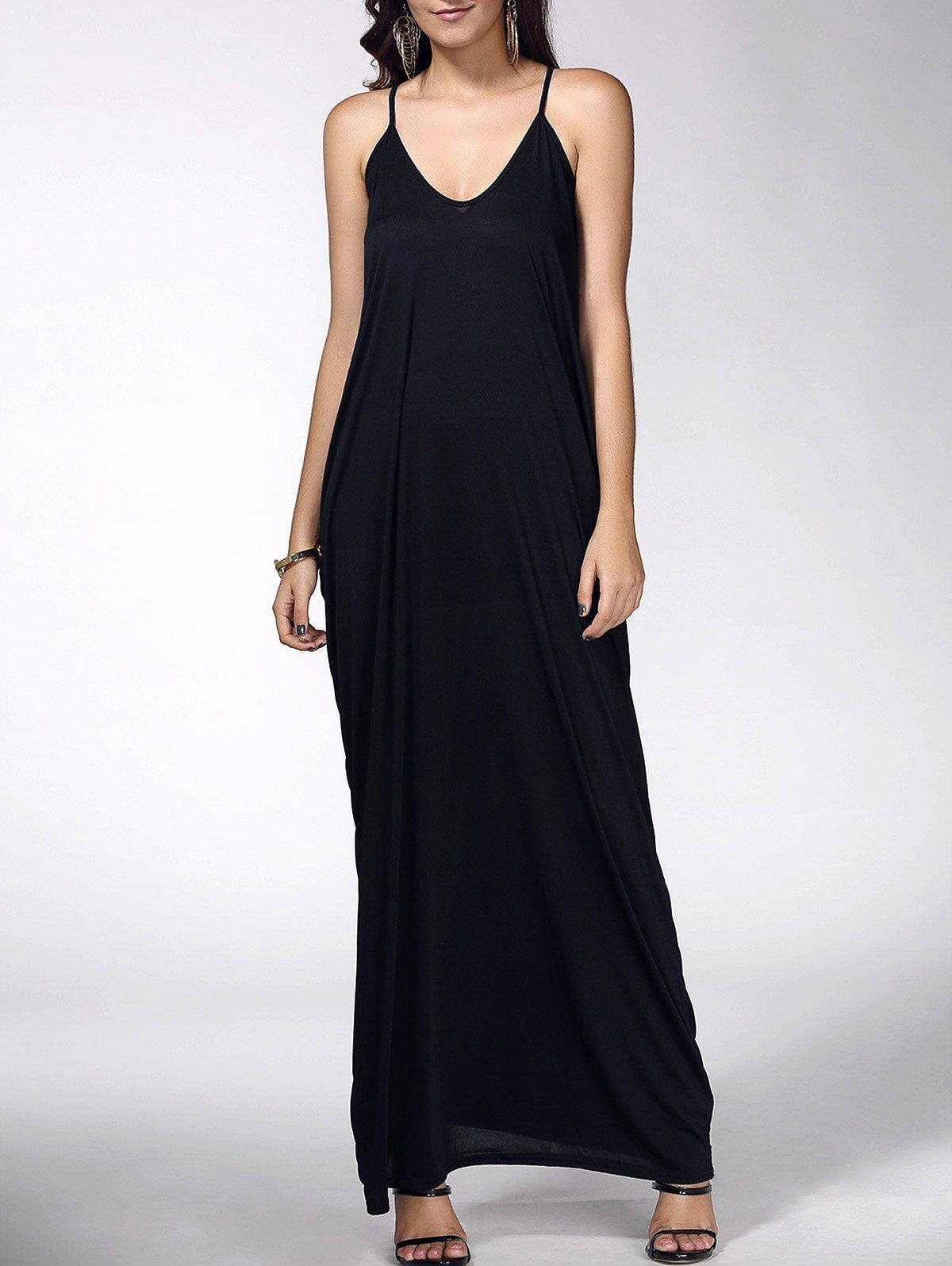 Baggy manches Maxi Dress - Noir S