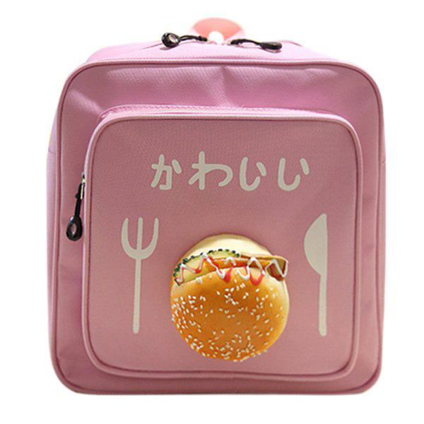 Leisure Burger and Hiragana Letter Design Women's Satchel