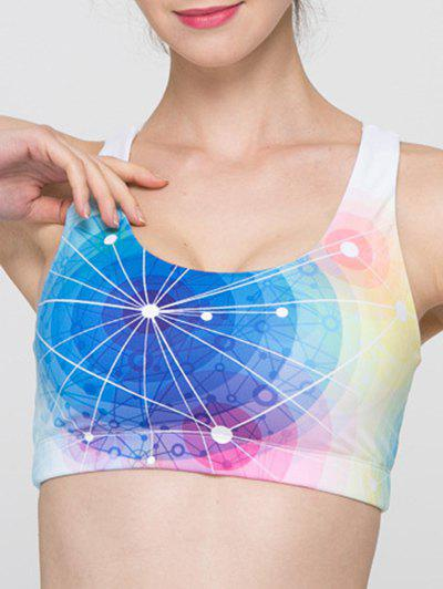 Trendy Colorful Hollow Out Criss Sport Bra For Women - COLORMIX S