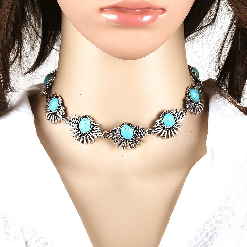 Chic Faux Gemstone Choker Necklace For Women
