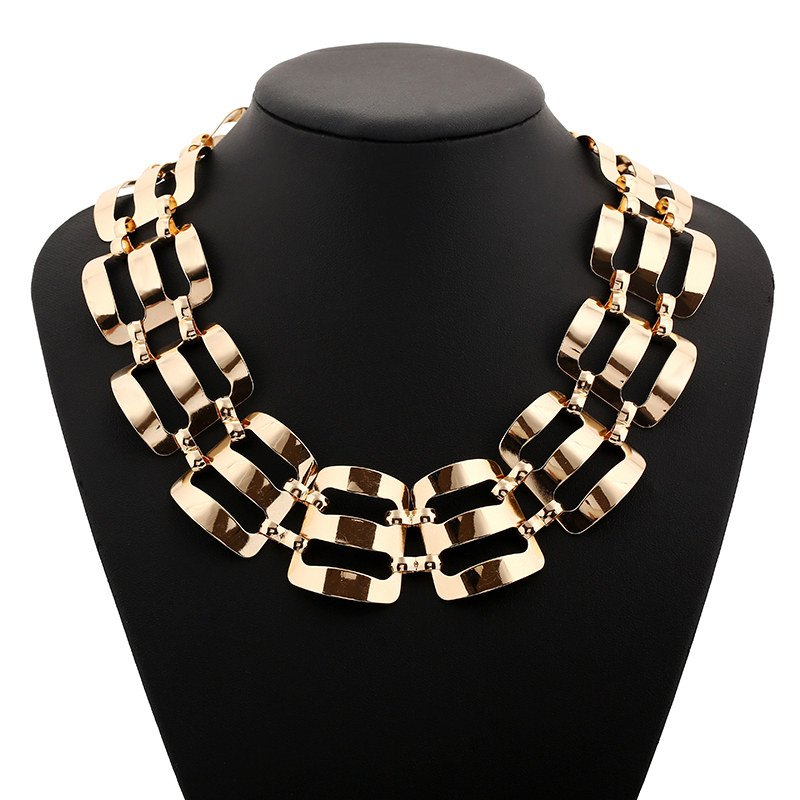 Punk Style Solid Color Alloy Necklace Jewelry For Women