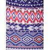 Tribal Pattern Skirt and Crop Top Twinset - BLUE L