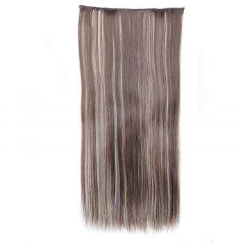 Trendy Heat Resistant Synthetic Clip-In Mixed Color Long Straight Women's Hair Extension - COLORMIX COLORMIX