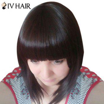 Sweet Silky Straight Capless Full Bang Real Human Hair Siv Wig For Women - BROWN/BLONDE