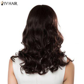 Charming Long Side Bang Human Hair Bouffant Wave Siv Hair Capless Wig For Women - AUBURN BROWN