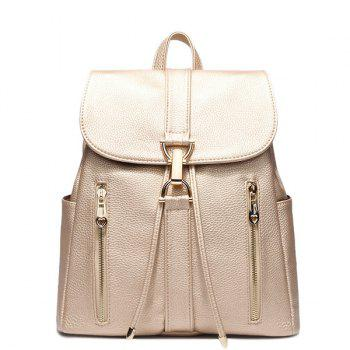 Leisure Metal and Solid Color Design Women's Satchel