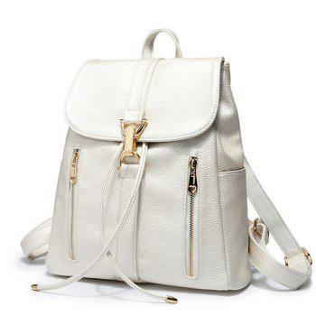 Leisure Metal and Solid Color Design Women's Satchel - CHAMPAGNE GOLD