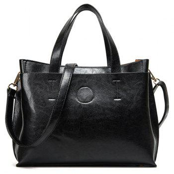 Simple Stitching and Solid Color Design Women's Tote Bag