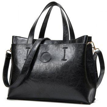 Simple Stitching and Solid Color Design Women's Tote Bag - BLACK