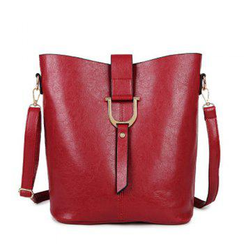 Leisure Metal and Solid Color Design Women's Crossbody Bag