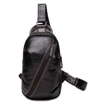 Leisure Zipper and Hit Colour Design Men's Messenger Bag