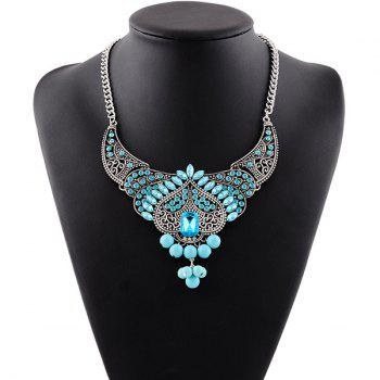 Faux Crystal Rhinestone Bead Necklace