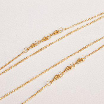 Chic Layered Triangle Pull Chain pour les femmes - Or