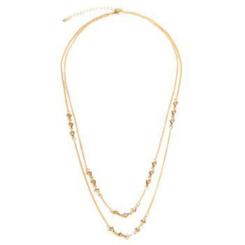 Chic Layered Triangle Sweater Chain For Women - GOLDEN GOLDEN