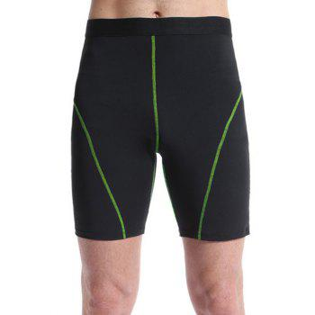 Tight-Fitting Color Block Qick-Dry Men's Gym Shorts