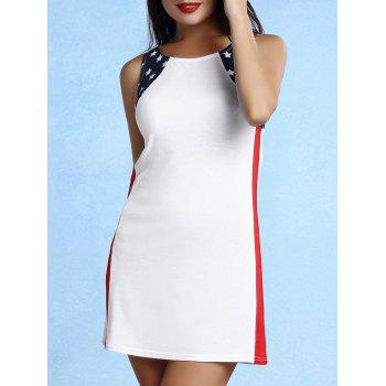 Trendy Sleeveless Scoop Neck Star Print Dress For Women