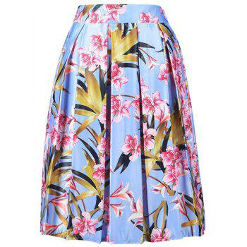 Trendy Floral Print High Waisted A Line Skirt For Women