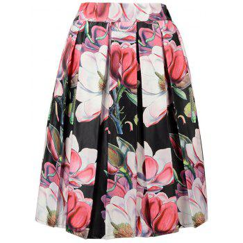 Trendy Flower Print A-Line Skirt For Women