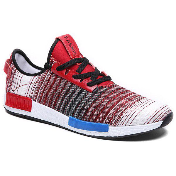 Stylish Gradient Color and Lace-Up Design Men's Athletic Shoes