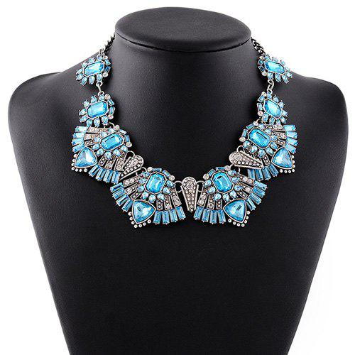 Charming Faux Crystal Rhinestone Hollowed Geometric Necklace For Women