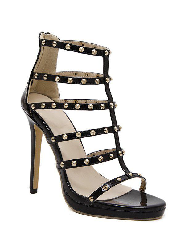 Rome Rivet and Stiletto Heel Design Sandals For Women