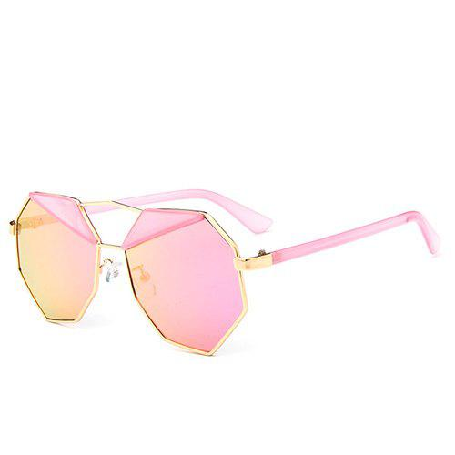 Chic Triangle Irregular Rim Women's Cool Sunglasses -  LIGHT PINK