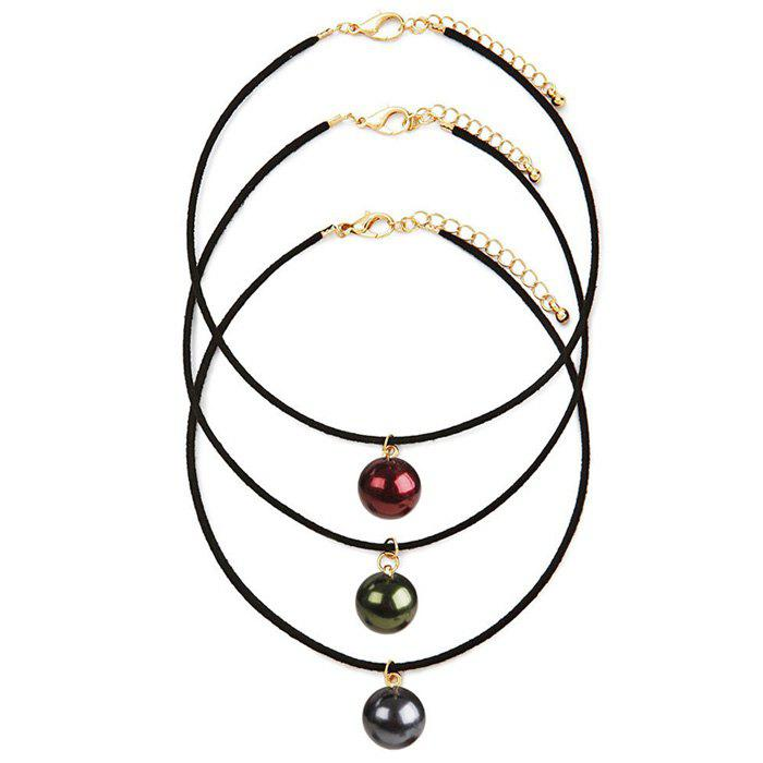 A Suit of Gorgeous Embellished Faux Pearl Necklaces For Women