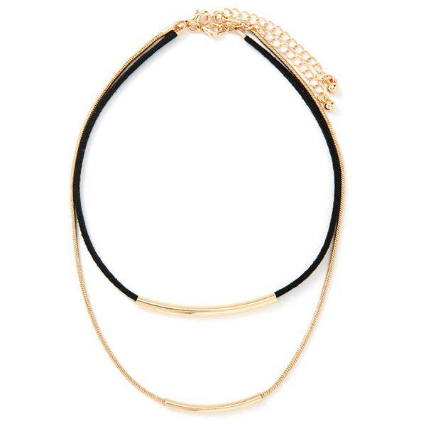 Alloy Adjustable Layered Necklace - GOLDEN