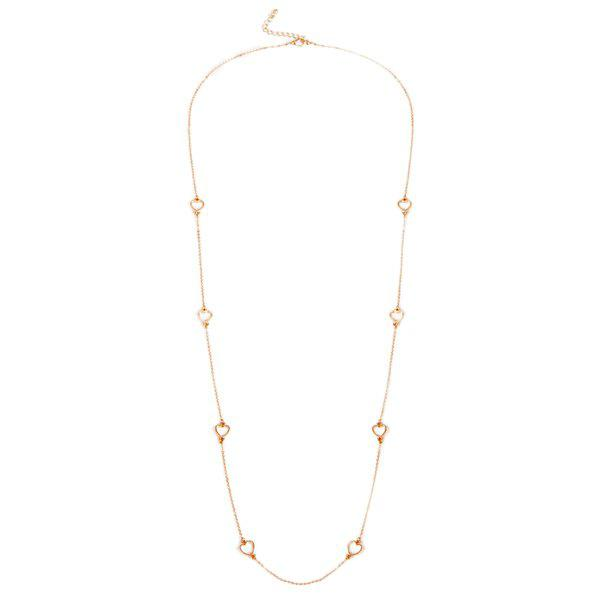 Chic Solid Color Heart Sweater Chain For Women