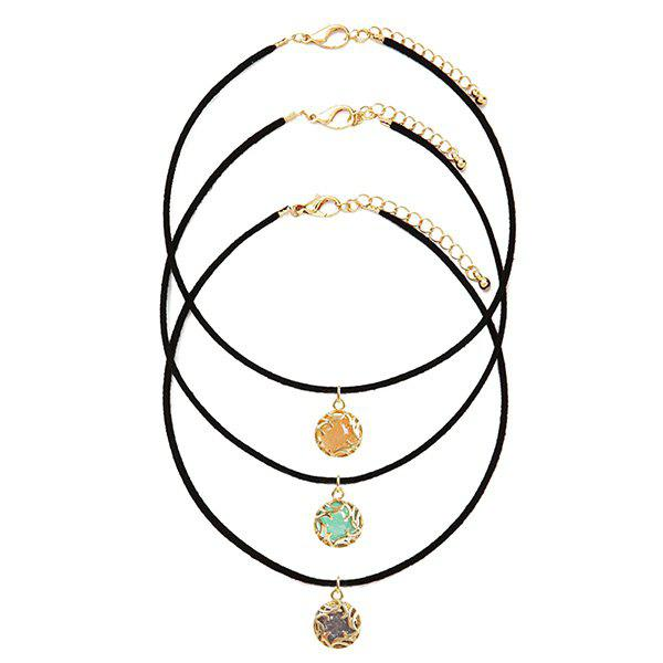 A Suit of Hollow Out Jewelry Necklaces - YELLOW
