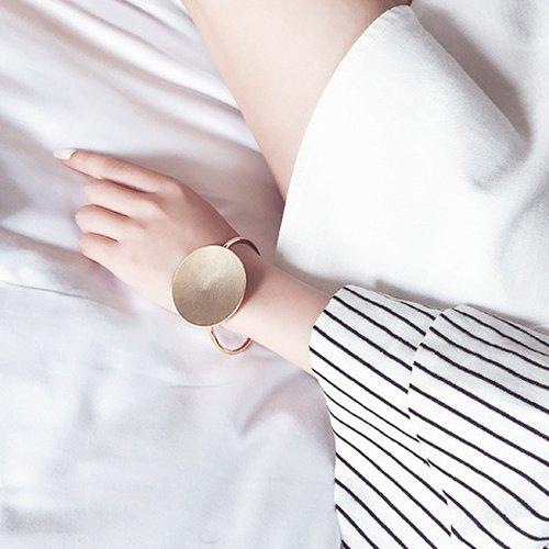 Simple Round Card Opening Bracelet For Women